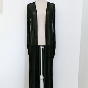 Full Length Sheer Duster Jacket / Cover Up